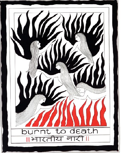 burnt to death
