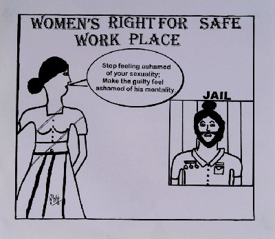 women's right for a safe workplace