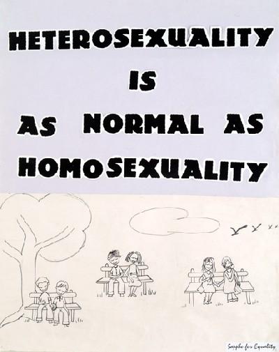 heterosexuality is as normal…