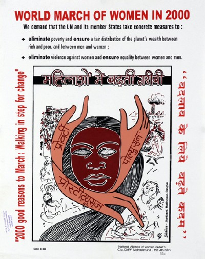 world march of women in 2000-poster 4