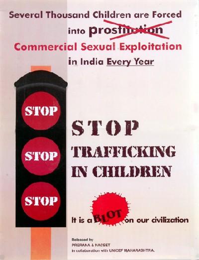 stop trafficking in children…